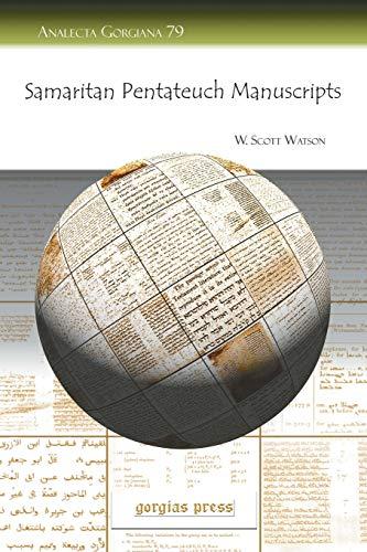 9781593338923: Samaritan Pentateuch Manuscripts