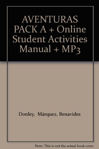 9781593340568: AVENTURAS PACK A + Online Student Activities Manual + MP3