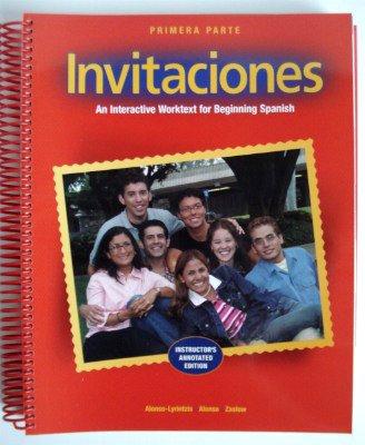 Invitaciones Primera Parte Intructor's Annotated Edition : Brandon Zaslow Deana