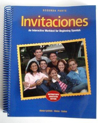 Invitaciones Segunda Parte (Instructor's Edition): Deana Alonso, Esther
