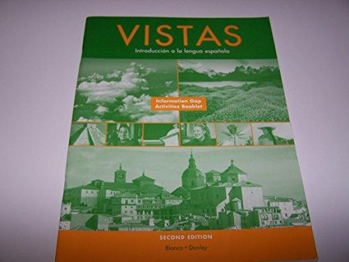 9781593343835: Vistas / Introducción a la lengua española / Information Gap Activities Book