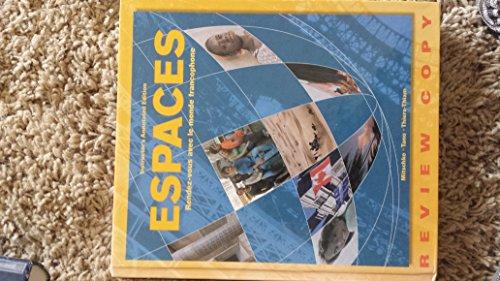 9781593348335: Espaces: Rendez-Vous Avec Le Monde Francophone (French Edition)