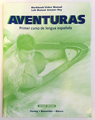 9781593348922: Aventuras Primer Curso De Lengua Espanola Workbook/video Manual Lab Manual Answer Key