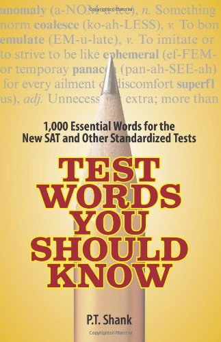 9781593375218: Test Words You Should Know: 1,000 Essential Words for the New SAT and Other Standardized Texts