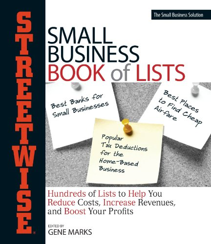 9781593376840: Streetwise Small Business Book Of Lists: Hundreds of Lists to Help You Reduce Costs, Increase Revenues, and Boost Your Profits (Streetwise Series)