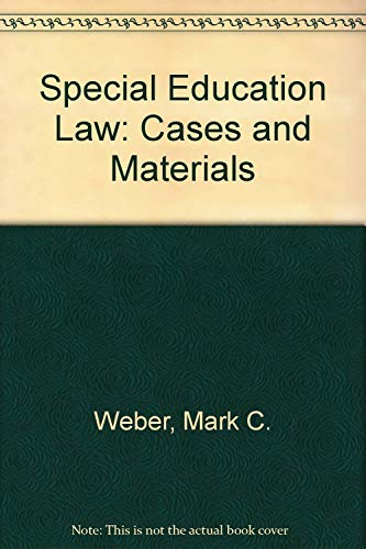 9781593458799: special education law: cases and materials