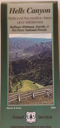 9781593515317: Hells Canyon National Recreation Area and Wilderness Map