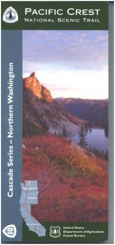 9781593515348: Northern Washington Pacific Crest Trail Hiking Map
