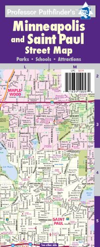 Minneapolis and St Paul Street Map: Hedberg Maps