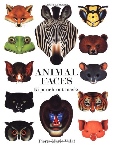 Animal Faces: 15 Punch-Out Animal Masks (Paperback)