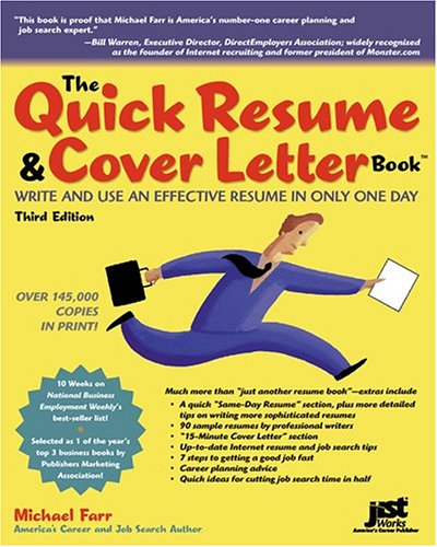 9781593578565 quick resume cover letter book write and use an