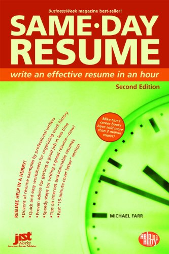 9781593573836: Same-Day Resume (Help in a Hurry)