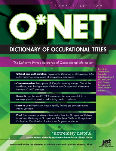 9781593574154: O*NET Dictionary of Occupational Titles