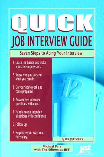 9781593574482: Quick Job Interview Guide Seven Steps to Acing Your Interview