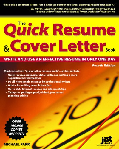 9781593575175: The Quick Resume & Cover Letter Book: Write and Use an Effective Resume in Only One Day (Quick Resume and Cover Letter Book)