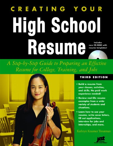 9781593576622: Creating Your High School Resume: A Step-By-Step Guide to Preparing an Effective Resume for College Training and Jobs