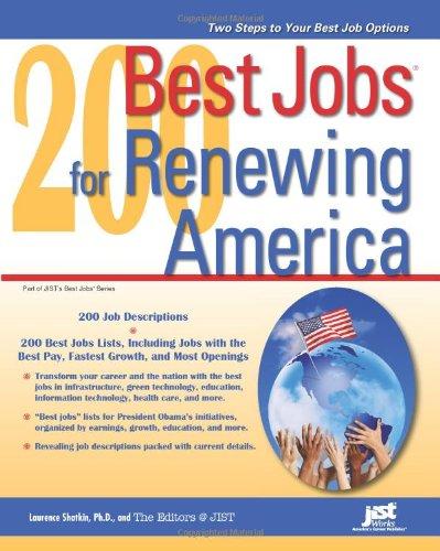 200 Best Jobs for Renewing America: Laurence Shatkin