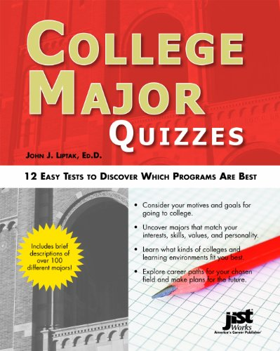 9781593578671: College Major Quizzes: 12 Easy Tests to Discover Which Programs Are Best