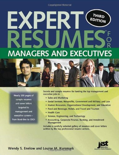 9781593578855: Expert Resumes for Managers and Executives, 3rd Ed