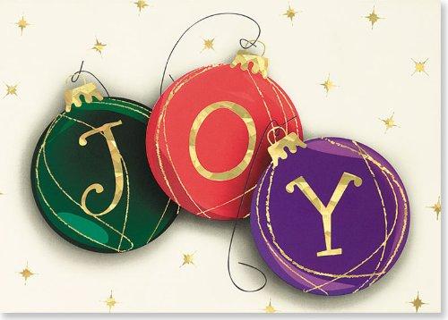 9781593590109: ''Joy'' Christmas Balls Holiday Boxed Cards (Christmas Cards, Holiday Cards, Greeting Cards)