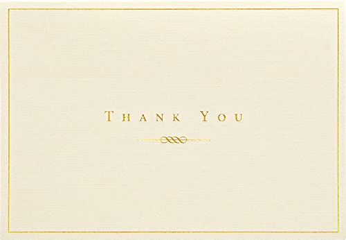 9781593591076: Gold and Cream Thank You Notes (Stationery, Note Cards) (Note Card Series)