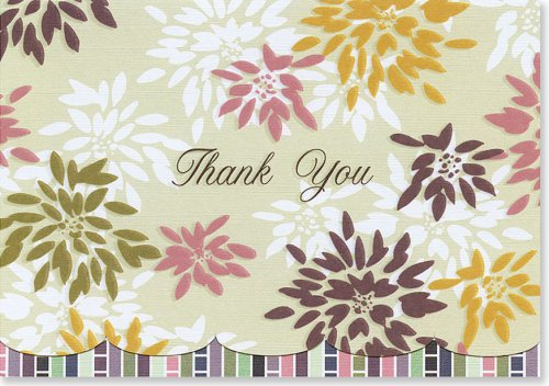 Chrysanthemums Thank You Notes (Stationery, Note Cards) (1593591470) by Peter Pauper Press