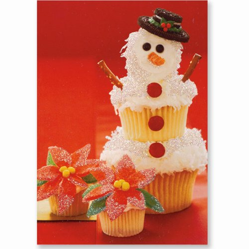 9781593591632: Snowman Cupcake (Christmas Cards, Holiday Cards, Greeting Cards) (Small Holiday Card Series)
