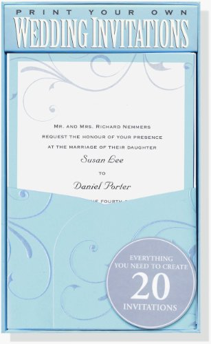 Blue Elegance Wedding Invitation Kit (Stationery, Imprintables Invite Kit) (1593592892) by Peter Pauper Press