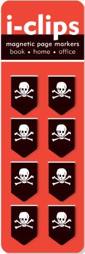 9781593593384: Skulls i-Clip Magnetic Page Markers (Set of 8 Magnetic Bookmarks)