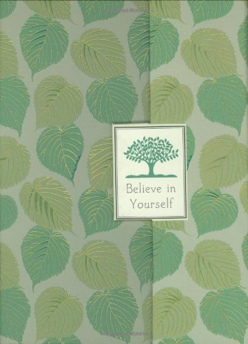 9781593593902: Journal Fold-Over Believe in Yourself Green