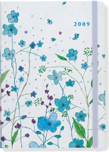 9781593595753: Blue Flowers 2009 (2009 Compact Engagement Calendars) (Small Format Engagement Calendars)