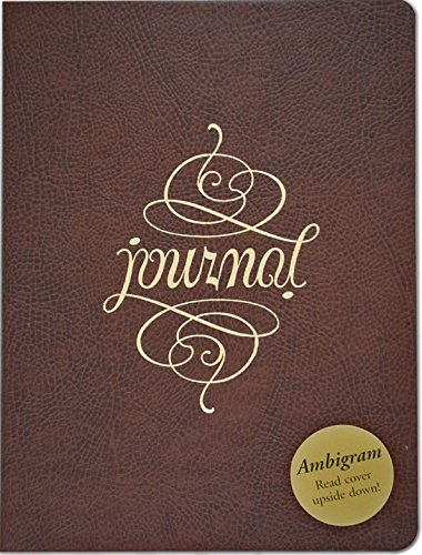 Ambigram Leather Journal (Diary, Notebook): Peter Pauper Press