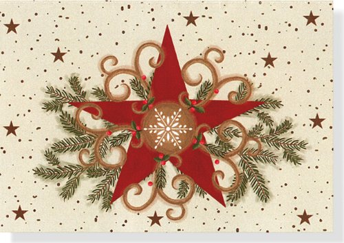 9781593597184: Folk Art Star Holiday Boxed Cards (Christmas Cards, Holiday Cards, Greeting Cards) (Small Boxed Holiday Cards)