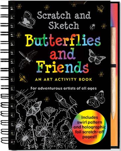 Scratch and Sketch Butterflies and Friends (Art Activity Book) (Scratch & Sketch): Mara Conlon