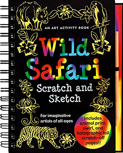 9781593599713: Wild Safari: An Art Activity Book for Imaginative Artists of All Ages [With Wooden Stylus Pencil] (Scratch & Sketch)