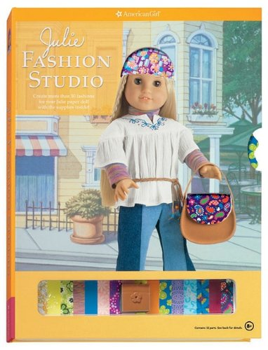 Julie Fashion Studio [With Julie Paper Doll and Reusable Accesory Stickers, Reusable Sticky Dots ...