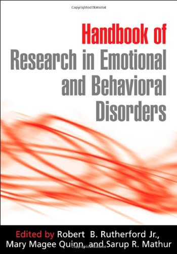 9781593850562: Handbook of Research in Emotional and Behavioral Disorders
