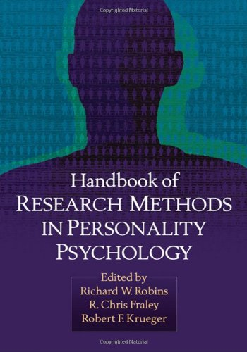 9781593851118: Handbook of Research Methods in Personality Psychology