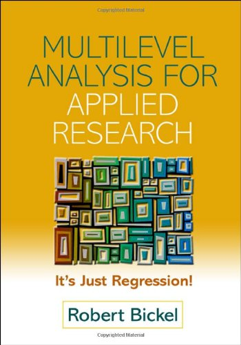 9781593851910: Multilevel Analysis for Applied Research: It's Just Regression! (Methodology in the Social Sciences)