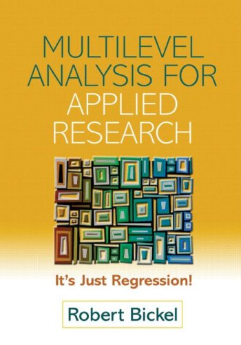 9781593854294: Multilevel Analysis for Applied Research: It's Just Regression! (Methodology in the Social Sciences)