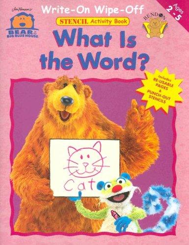 9781593943448: Word: Write On/wipe Off Stencil Workbook - (Bear in The Big Blue House)