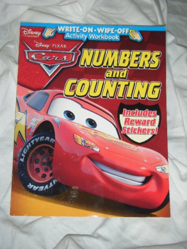 9781593946074: Disney Pixar Cars Numbers and Counting Write-on Wipe-off Activity Workbook