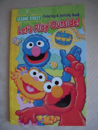 9781593948375: Sesame Street Let's Play Outside Coloring & Activity Book (Stickers Included)