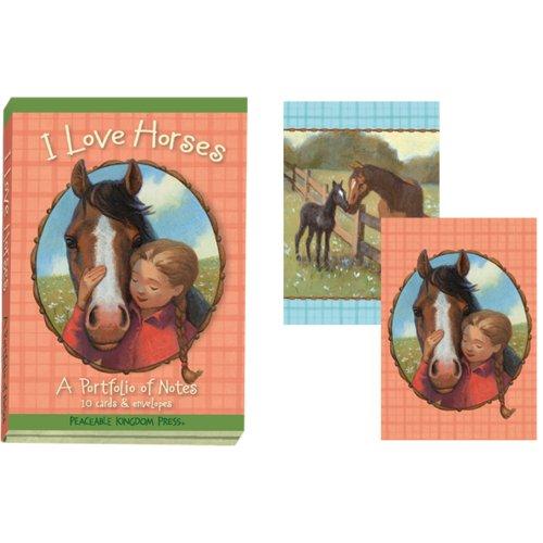 9781593954994: PF85 - I Love Horses Portfolio of Notes (Note Cards)