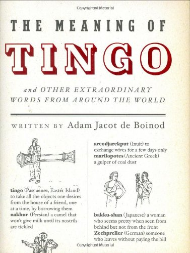 9781594200861: The Meaning of Tingo: And Other Extraordinary Words from Around the World