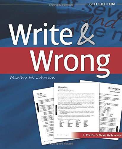 9781594332692: Write & Wrong: A Writers Desk Reference