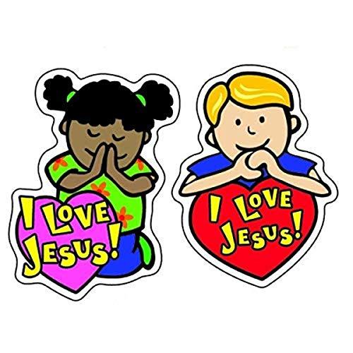 9781594410239: I Love Jesus Shape Stickers
