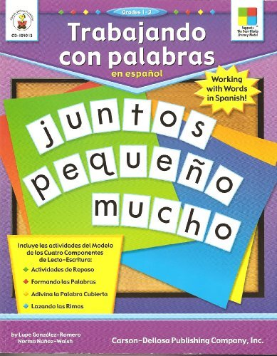 9781594410260: Trabajando Con Palabras En Español (Working with Words in Spanish) (Spanish Edition)