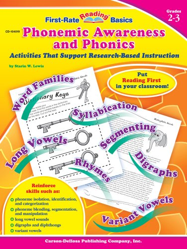 9781594410499: Phonemic Awareness and Phonics, Grades 2 - 3: Activities That Support Research-Based Instruction (First-Rate Reading Basics)