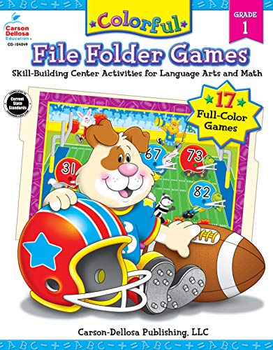 9781594410895: Colorful File Folder Games, Grade 1: Skill-Building Center Activities for Language Arts and Math (Colorful Game Book Series)